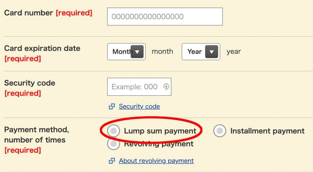 Lump-sum-payment