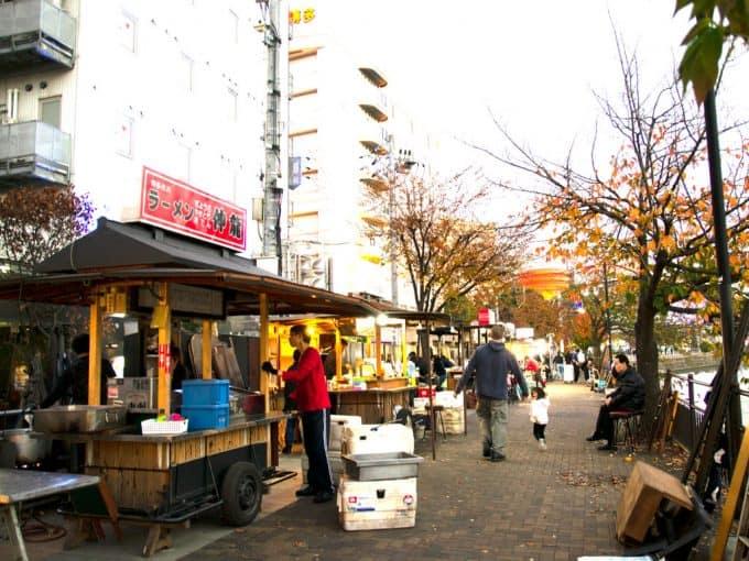 Food Stalls in Nakasu Island in Fukuoka