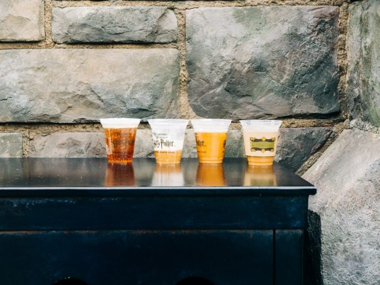 4 butterbeer left on the trash by visitors
