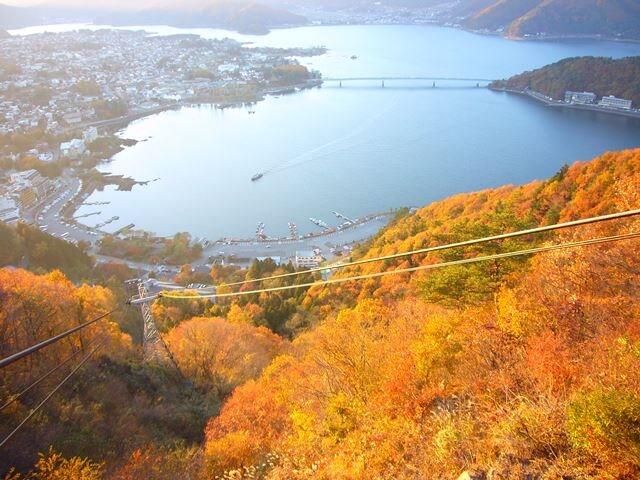 Kachi Kachi Ropeway in Lake Kawaguchiko