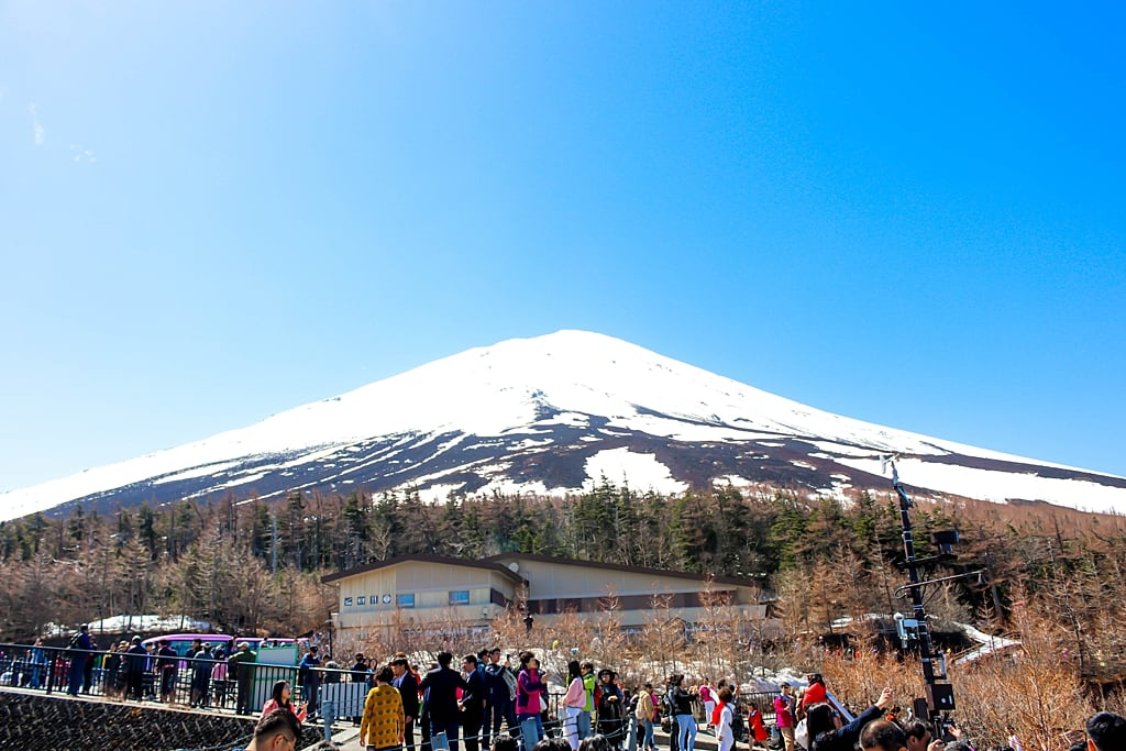 View of Fuji summit up close from the the 5th station