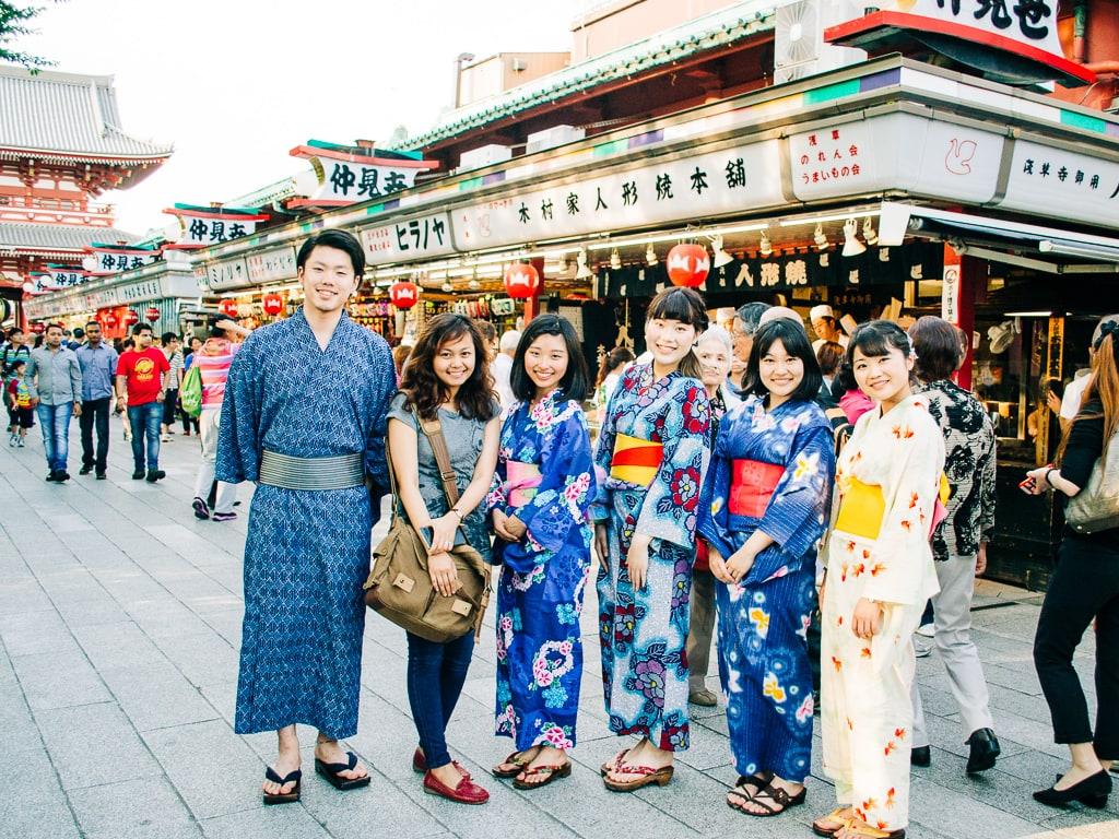 Kimono rental in Asakusa
