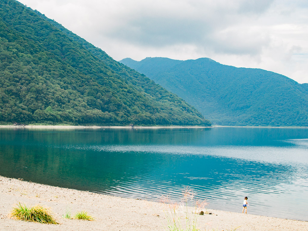 Lake Motosu by the camping grounds