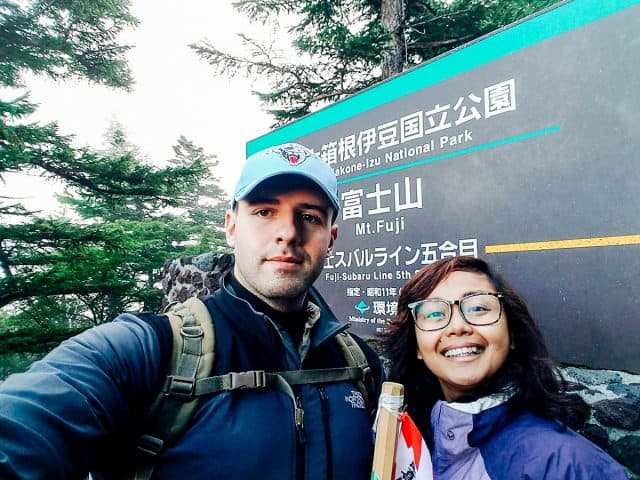 Beginning our climb from Yoshida trail