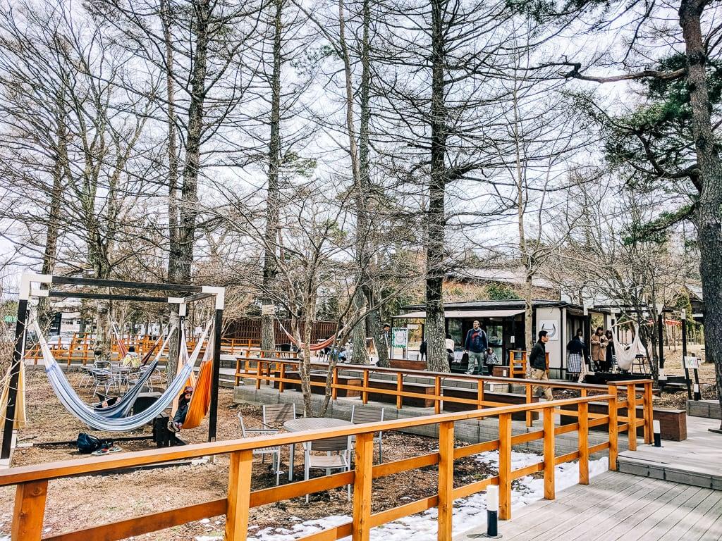 Hammock Cafe in Lake Yamanaka 2
