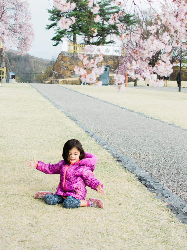 Maizuru castle and our daughter