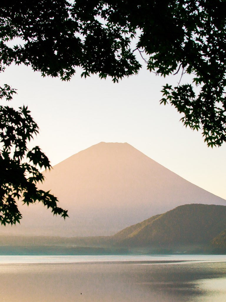 Mt Fuji View from our tent site