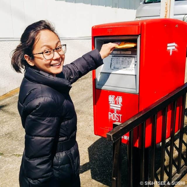 Returning the portable WiFi through post office box in Japan