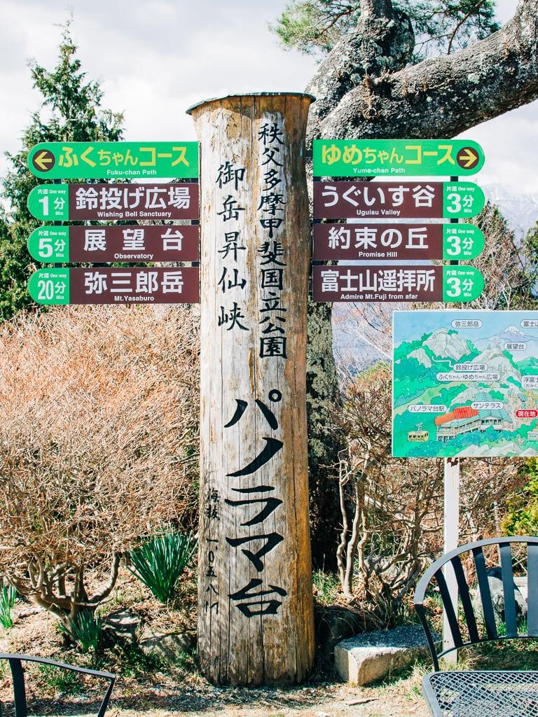 Shosenkyo Gorge Observation deck