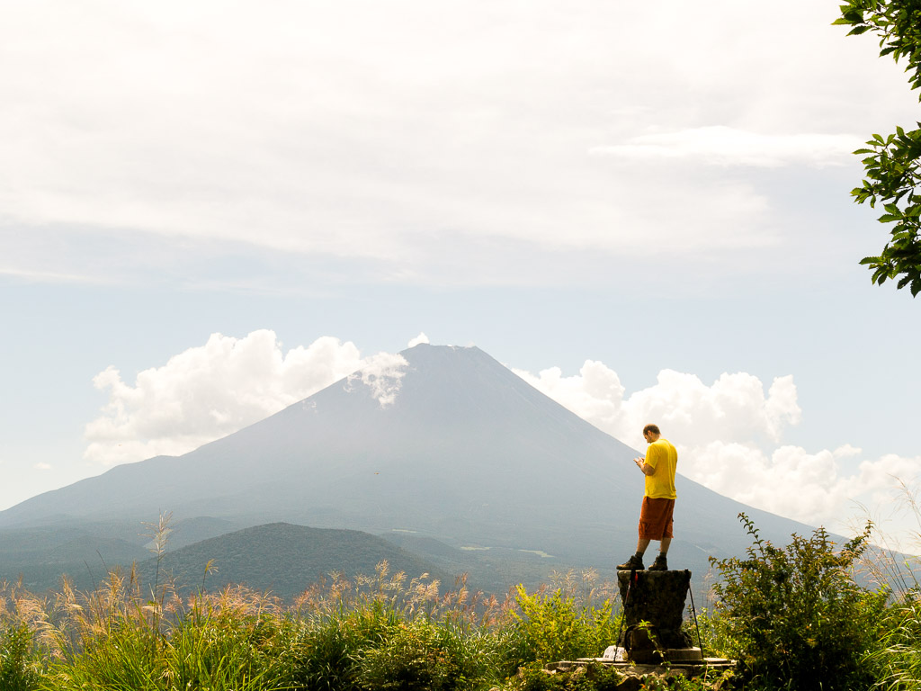 Husband and Mt fuji