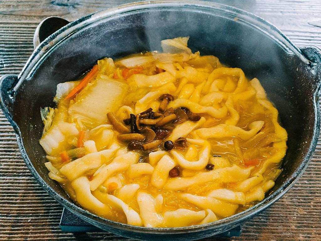 famous dish of Yamanashi Hoto noodles