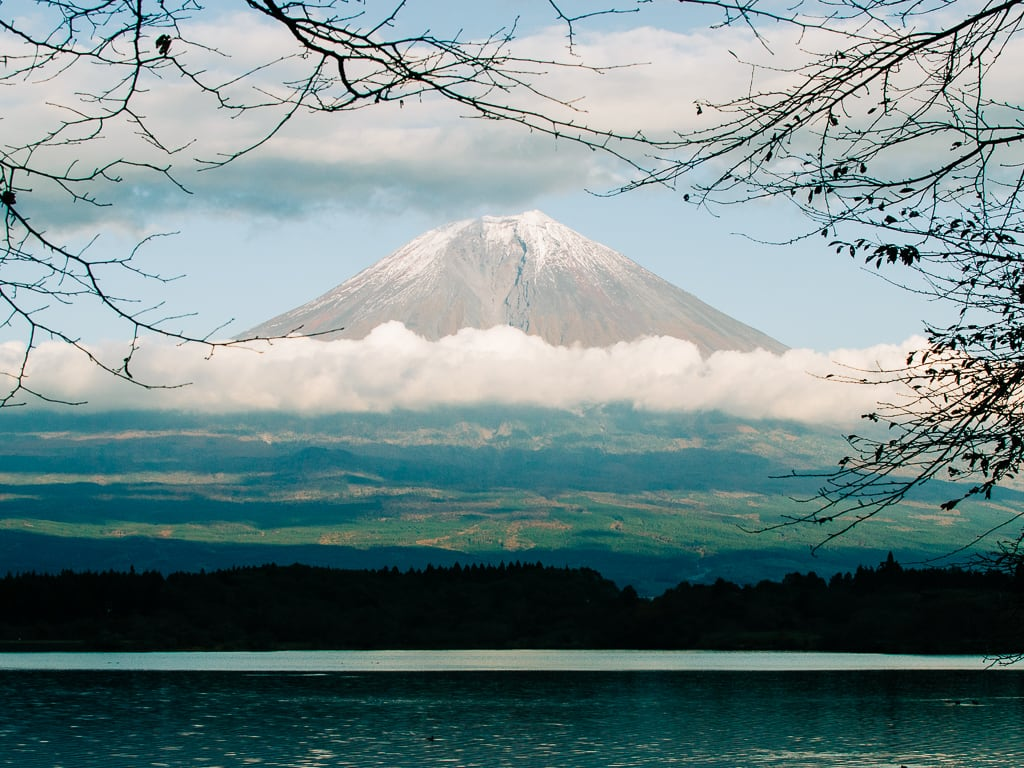 Biking in Lake Tanuki with views of Mount Fuji 3