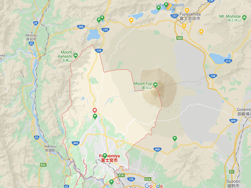 Fujinomiya Map