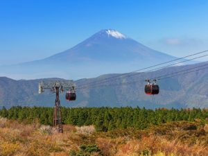 Hakone Ropeway to Owakudani with Mount Fuji