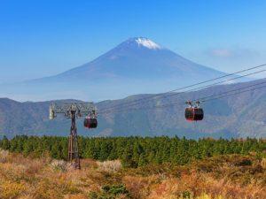Hakone Ropeway to Owakudani with Mount Fuji