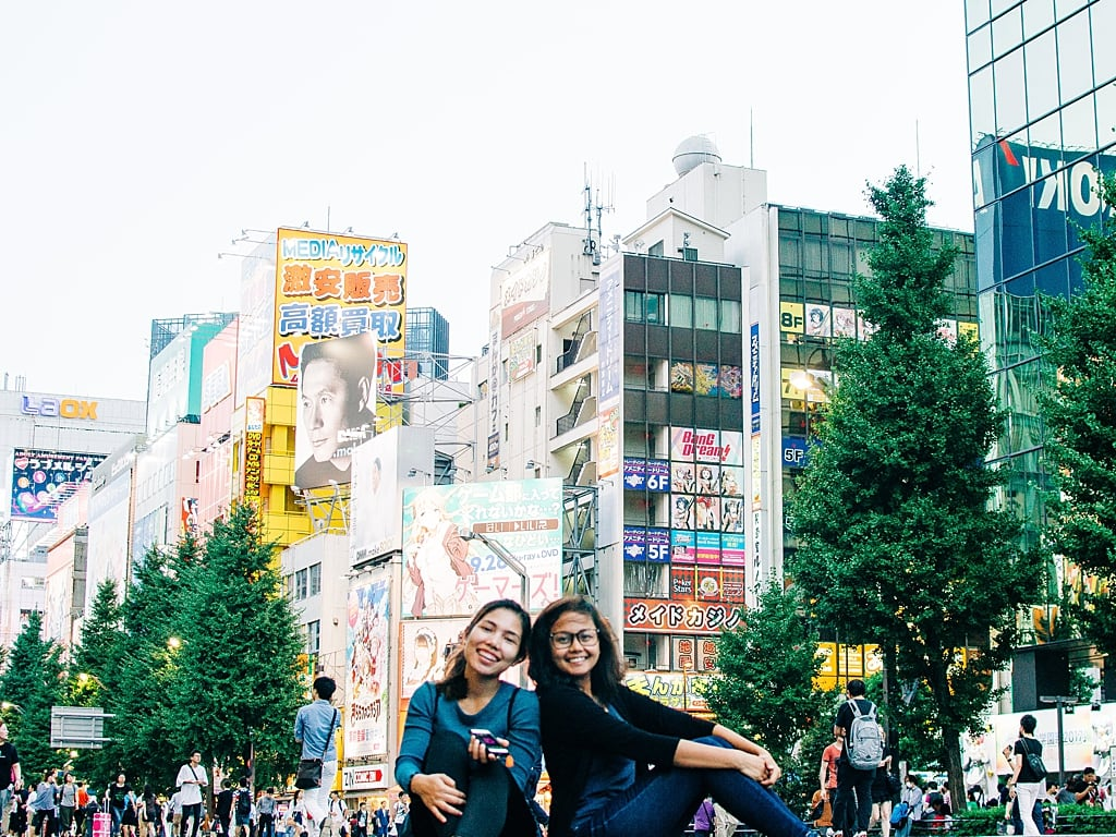 My cousin and I, when she visited me in Japan
