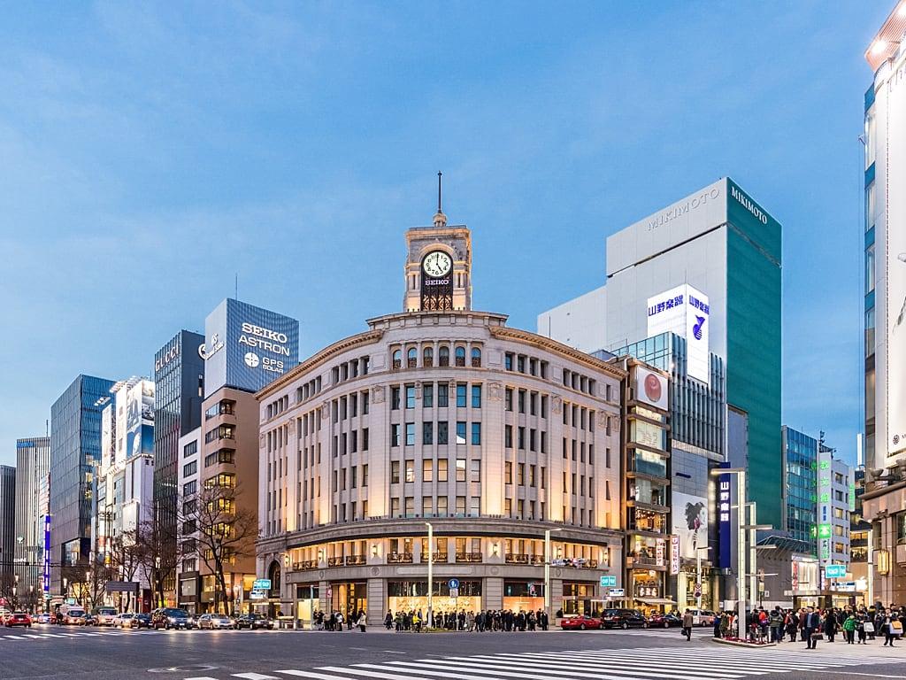 Seiko Clock Tower in Ginza