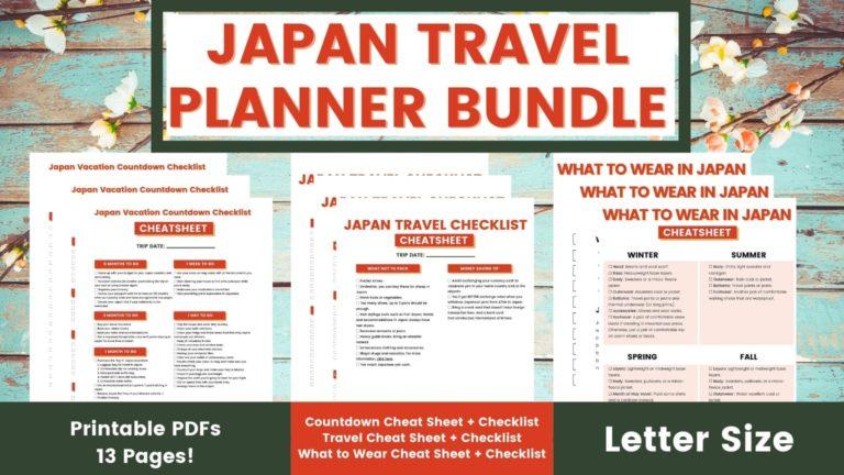 Japan Travel Planner Bundle