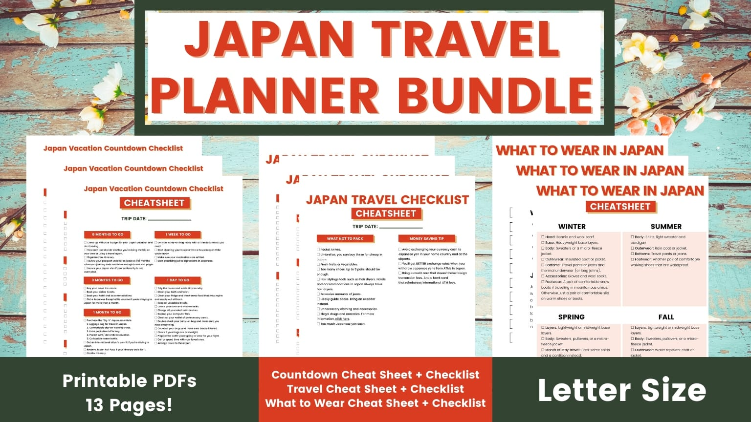 Japan Travel Planner Bundle