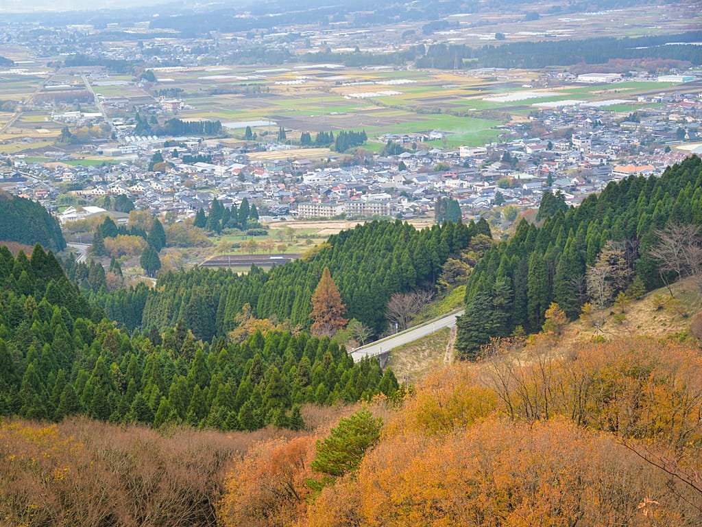 Beautiful small town village - Takamori Village from Mt Aso